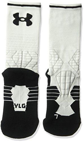 Under Armour Jungen Fußball Crew Single Paar Socken, Weiß/Schwarz, Jugend groß (Jugend-fußball-socken-jungen)