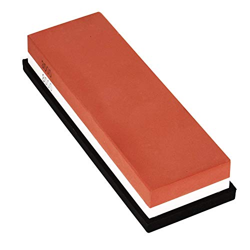 Sharpening Whetstone Set - 3000/8000 Knife Sharpener with Sillicone Holder for Coarse and Fine Grinding