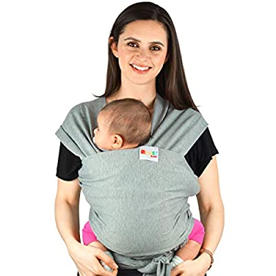 Baby Carriers Sling Infant Wrap - Natural Cotton Multi Position Soft Sling for Newborns Infants from Birth | Grey  Delaman