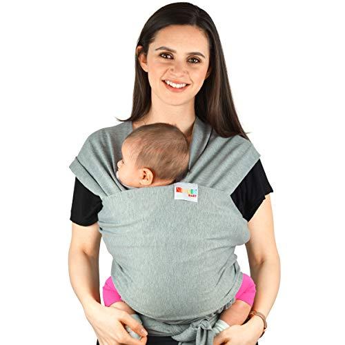 Babytragetuch aus Baumwolle in Premium Qualität | Mehrere Tragepositionen mit diesem weichem und leichtem Tragetuch von Geburt an