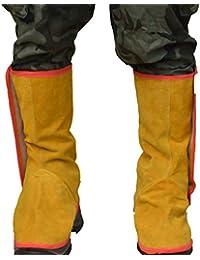 SM SunniMix Calzado De Soldadura De Cuero De Vaca Largo Zapato Protectores Herramienta De Trabajo Soldador