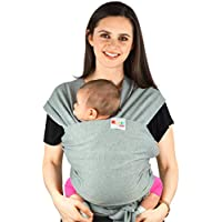 Baby Carriers Sling Infant Wrap - Natural Cotton Multi Position Soft Sling for Newborns Infants from Birth | Grey