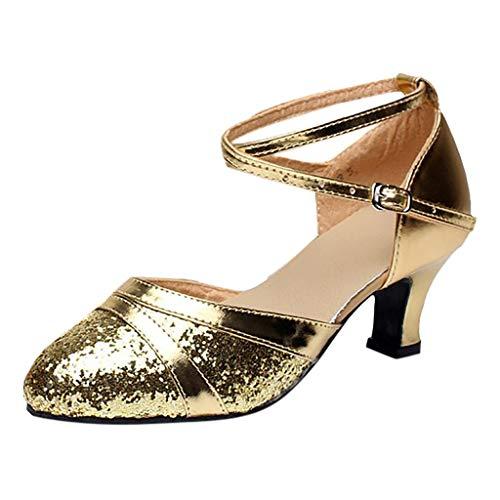 Bluestercool donna sala da ballo tango latino salsa danza scarpe paillettes scarpe danza scarpa sociale