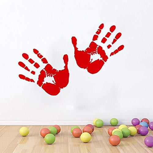 haninj Halloween Party Decals Rotes Blut Handabdrücke Moderne Wandaufkleber Für Wohnzimmer Wohnkultur Wasserdicht Wohnaccessoire Wallpap 59 cm x 32 cm