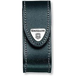 Victorinox, 4.0520.3 Etui-Ceinture - Pochette en cuir noir avec fermeture Velcro