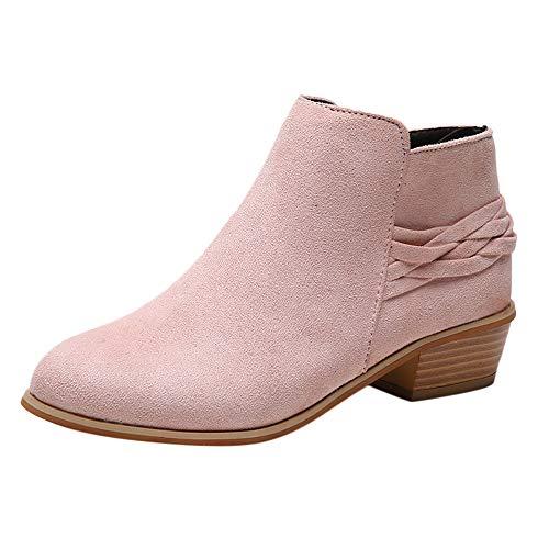 Botines para Mujer K-youth Botas Mujer Invierno Moda Zapatos Mujer Plataforma Botines de Mujer Fiesta...