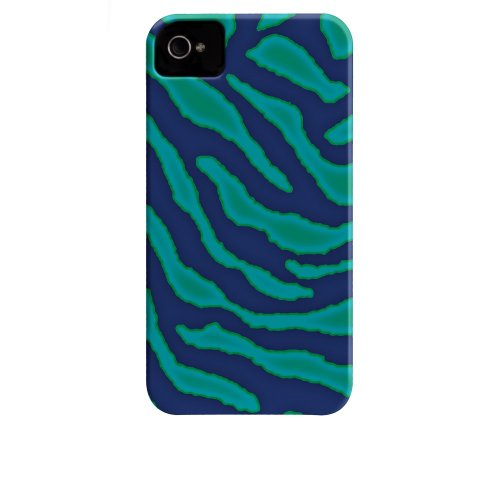 Case-Mate Barely There Coque pour Apple iPhone 4/4S Seaweed Esmerald Zebra