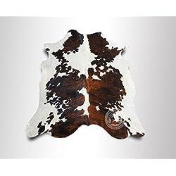ALFOMBRA DE PIEL DE VACA Tricolor 180 x 210 cm – Calidad Premium de PIELES DEL SOL