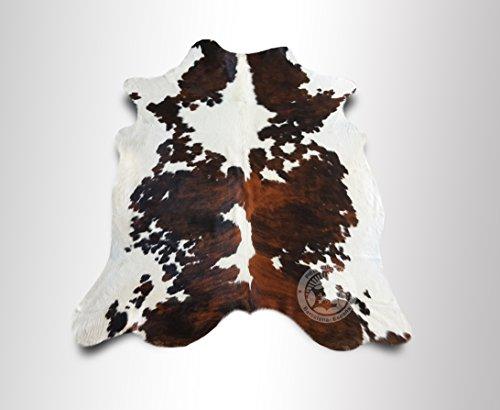 ALFOMBRA DE PIEL DE VACA Tricolor Exotico 200 x 220 cm – Calidad Premium de PIELES DEL SOL