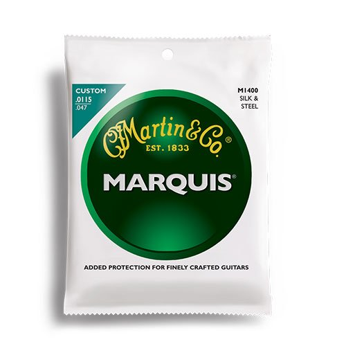 Martin M1400 Marquis Silk & Steel Acoustic Folk Guitar Strings 11.5-47