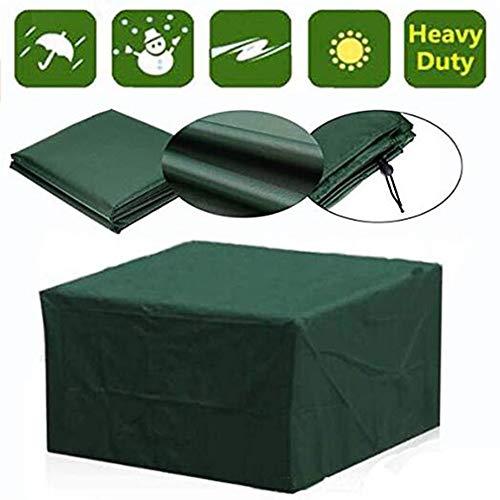 JIANFEI Gartenmöbel Abdeckung Abdeckplane Schutzhülle Außenterrasse Möbelhäuser Tisch Und Stuhl Wasserdicht Anti-UV, 31 Größe, Unterstützung Der Anpassung (Color : Green, Size : 190x135x90cm)