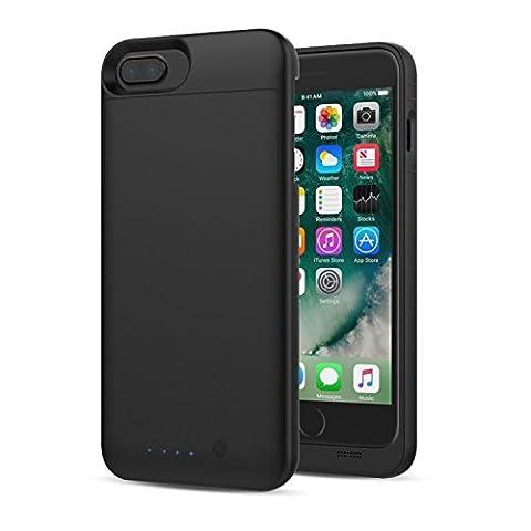 [Apple MFi Certified] MoKo iPhone 7 Plus Batterie Chargeur Etui - Etui Housse de Protection avec Chargeur de Batterie Externe Rechargeable 4000mAh pour iPhone 7 Plus / 6s Plus / 6 Plus, Noir