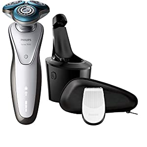 Philips Series 7000 Wet and Dry Men's Electric Shaver with SmartClean System and Precision Trimmer (UK 2-Pin Bathroom Plug) - S7710/26