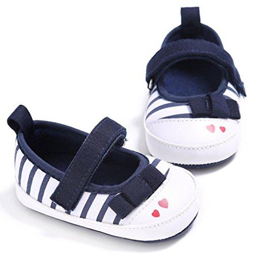 BZLine® Baby Baumwolle Schuhe Sneaker Anti-Rutsch Soft Sole Kleinkind Schuhe Marine