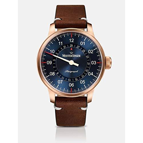 MeisterSinger Bronze Line Perigraph AM1017BR Reloj automático con sólo una aguja