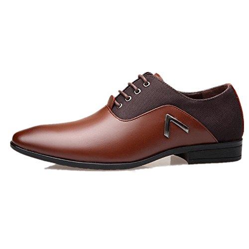 Herrenschuhe Herren Uniform Berufsschuhe Elegant Businessschuhe Lederschuhe Hochzeit Schuhe Nummer 3531 (38 EU, Braun)