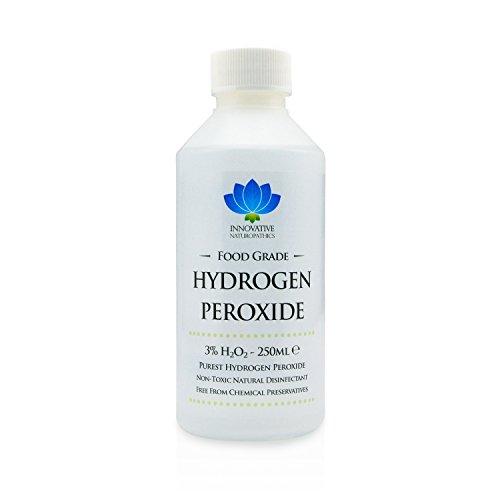 Acqua ossigenatadi grado alimentare, purissima, al 3%,250ml, non stabilizzata e priva di additivi,10vol