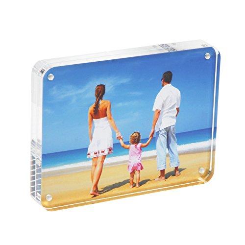 NUIBEE Cadre Photo Acrylique Transparent Cadre Photo Plexiglas Tableau avec Fermeture Magnétique