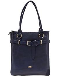 ESBEDA Dark Blue Color Solid Pu Synthetic Material Handbag For Women