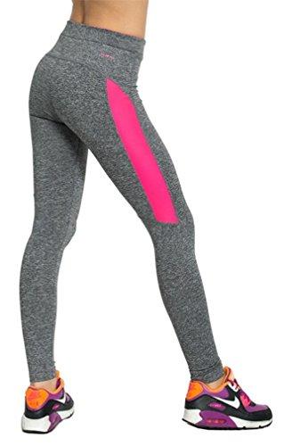 Zeta Ville - Elastique Mince Sport Legging Couleur Néon Fitness - Femme - 964z Style 6