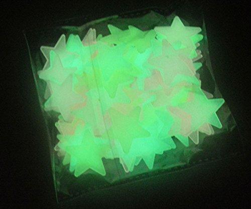 200pcs Etoiles phosphorescentes fluorescent lumineuses avec autocollant-- pour décorer votre chambre