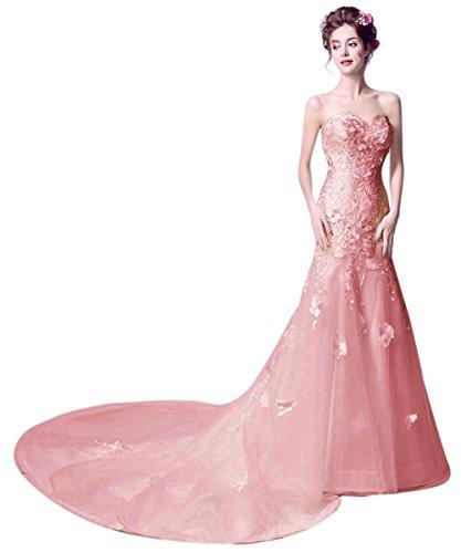 Vimans - Robe - Trapèze - Femme rose poudré