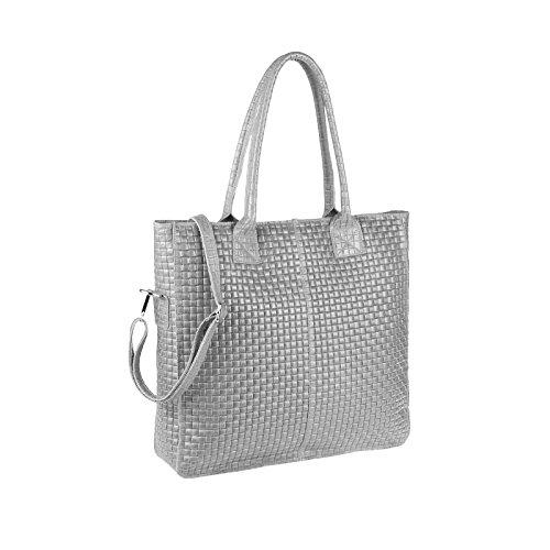 OBC Only-Beautiful-Couture , Cabas pour femme rose vieux rose ca.: 38x36x9 cm (BxHxT) gris clair