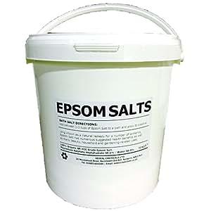 Epsom Sels de bain | Seau 10kg | qualité alimentaire | 100% biologique FCC | Sulfate de magnésium