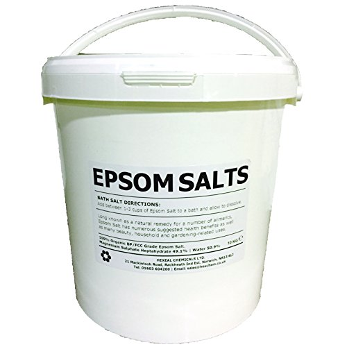 EPSOM BATH SALTS   10KG BUCKET   100% Organic   FCC Food Grade   Magnesium Sulphate