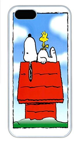 iPhone 5S Case Snoopy and Woodstock HD wallpapers PC Hard Plastic Case for iPhone 5/5S Whtie