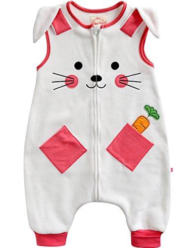 [Livraison Gratuite] Vaenait pour bébé 1–7 Ans en Polyester Non tissé Enfants Wearable Couverture Sleepsack Carotte Lapin - Blanc - Large
