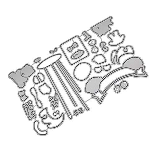 Xmiral fustelle per scrapbooking per carta cutting dies metallo fustella stencil #19042611, accessori per big shot e altre macchina(b)
