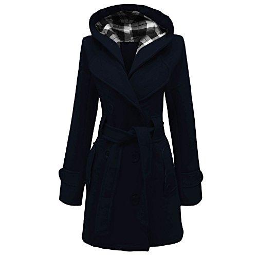 Home ware outlet - Chaqueta con capucha para mujer, talla 36 - 48 negro azul marino 38