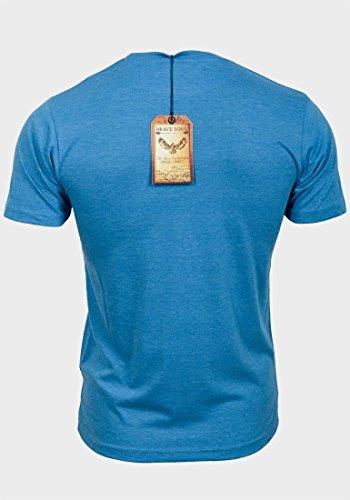 Brave Soul Herren T-Shirt Blau - Blau