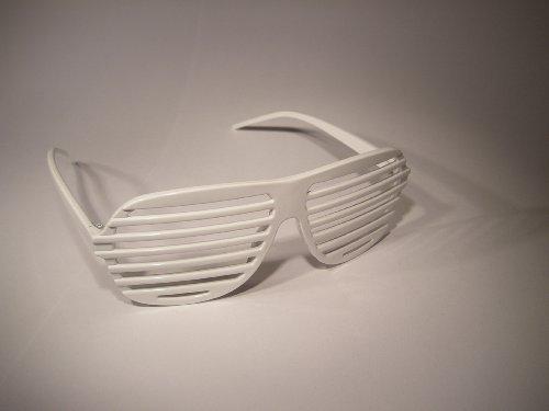 Atzenbrille Brille weiß