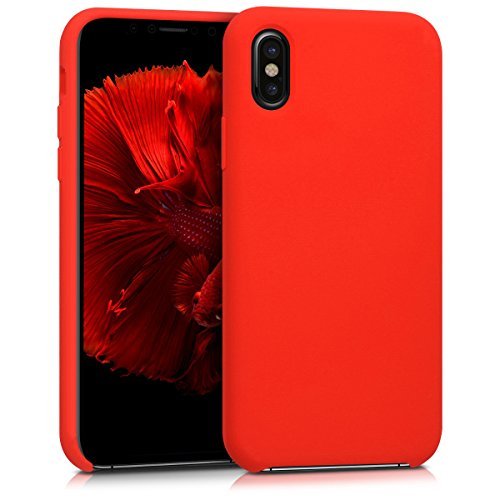 Kwmobile apple iphone x cover - custodia per apple iphone x in silicone tpu - back case cellulare rosso