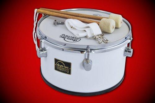 "Marching Tenor Drum / Fan-Trommel + Zubehör Größe: 12""x 07"" (30 x 17,5 cm) MIT REMO Ambassador Fell! (Modell: MTC-12B)"