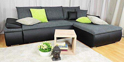 Avanti trendstore - divano in ecopelle, nero, ca. 268x168cm