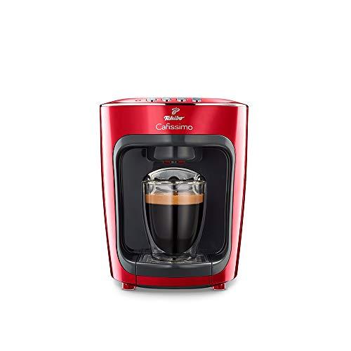 Tchibo Cafissimo mini salsa red, moderne Kaffeekapselmaschine (für Espresso, Kaffee Crema,...