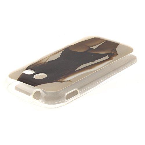 Samsung Galaxy Pocket 2 SM-G110 hülle,MCHSHOP Ultra Slim Skin Gel Schlank TPU Case Schutzhülle Silikon Silicone Schutzhülle Case Back Cover für Samsung Galaxy Pocket 2 SM-G110H - 1 Kostenlose Stylus P sexy mädchen mit einer hübschen hintern