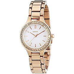 DKNY Ladies'Watch XS Analogue Quartz Stainless Steel Coated NY2222
