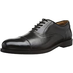 Clarks Coling Boss, Zapatos de Cordones Derby para Hombre, Negro (Black Leather), 47 EU