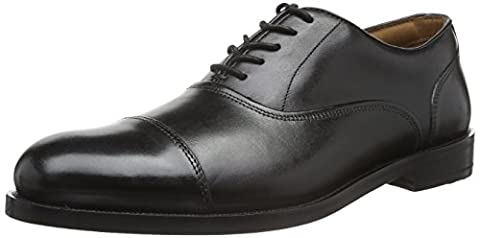 Clarks Herren Coling Boss Brogue Schnürhalbschuhe, Schwarz (Black Leather), 43 EU