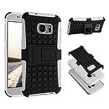 ECENCE Handyhülle Schutzhülle Outdoor Case Cover kompatibel für Samsung Galaxy S7 G930 Handytasche Weiss 32020303