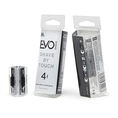 EvoShave Klingen, 4 Stück - Klinge Rasieren Patronen