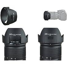 Parasol especial con ventana Recorte Mod. LH de 58para Nikon AF-S DX Nikkor 18–300mm f/3.5–5.6G ED VR, incluye Gorra con interior Mango