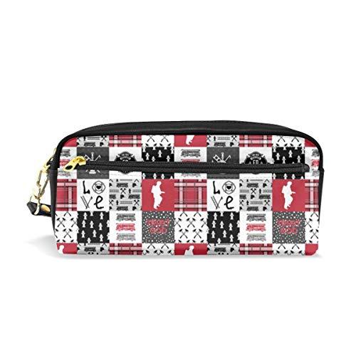 Feuerwehrmann faux quilt (horizontal) _176 kosmetiktaschen federmäppchen tragbare reise make-up veranstalter multifunktions tasche taschen für frauen Horizontale Fashion Pouch