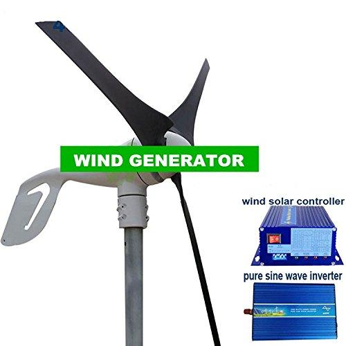 Gowe Max Power 600W 12V/24V Billigste Wind Generator + 600W Wind Solar Controller + Pflanzenbeleuchtung reiner Sinus Wechselrichter
