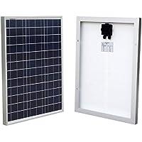 Eco-Worthy - Pannello solare 50W 12V, griglia fotovoltaica in policristallino, ideale per il campeggio e il giardino