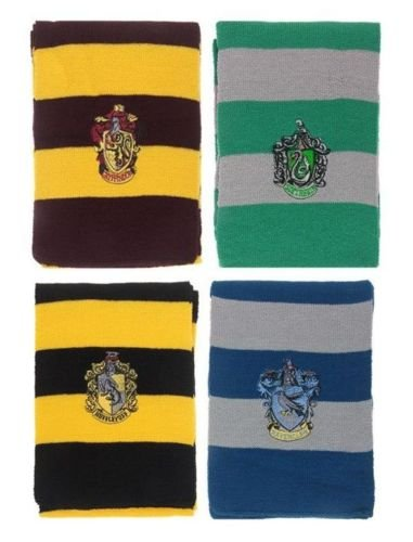 Harry Potter House Scarves Scarf Gryffindor Slytherin Hufflepuff Ravenclaw Christmas Present